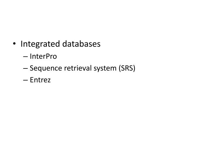 Integrated databases