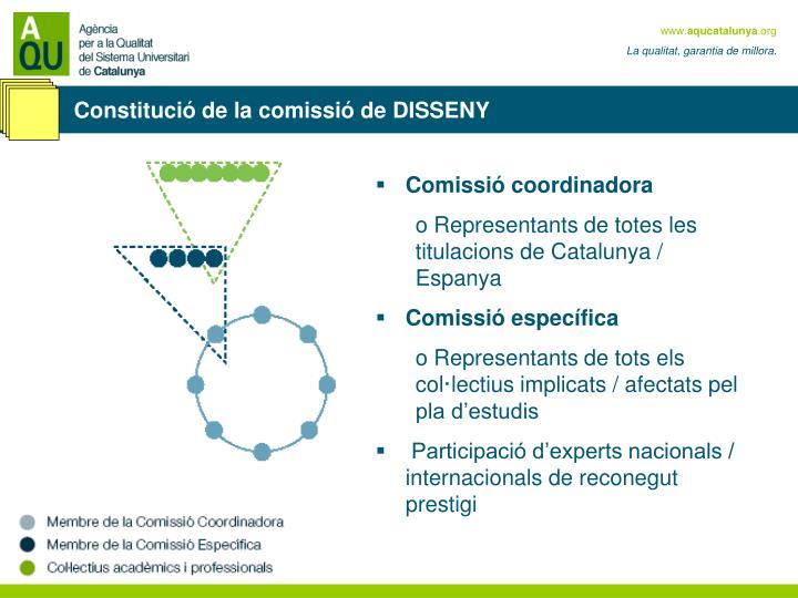 Constitució de la comissió de DISSENY