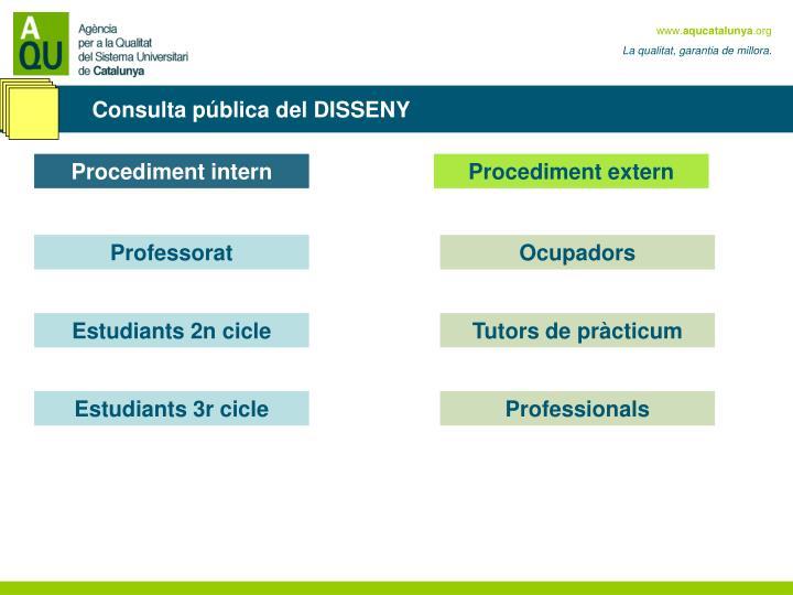 Consulta pública del DISSENY