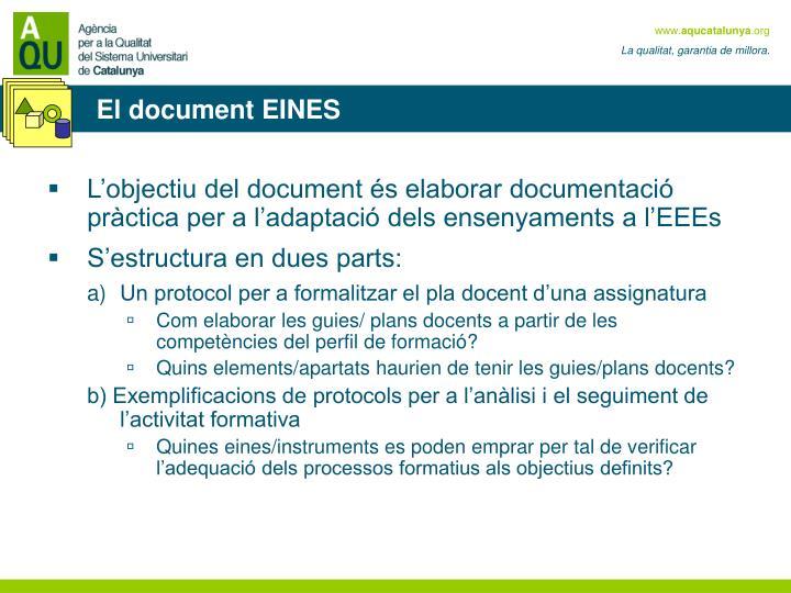 El document EINES