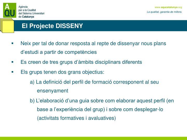 El Projecte DISSENY