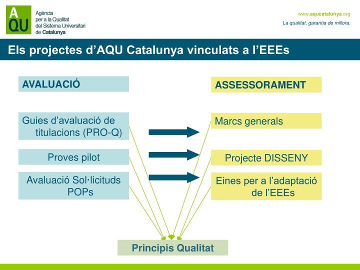 Els projectes d'AQU Catalunya vinculats a l'EEEs
