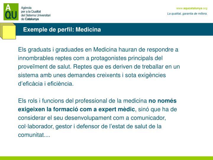 Exemple de perfil: Medicina