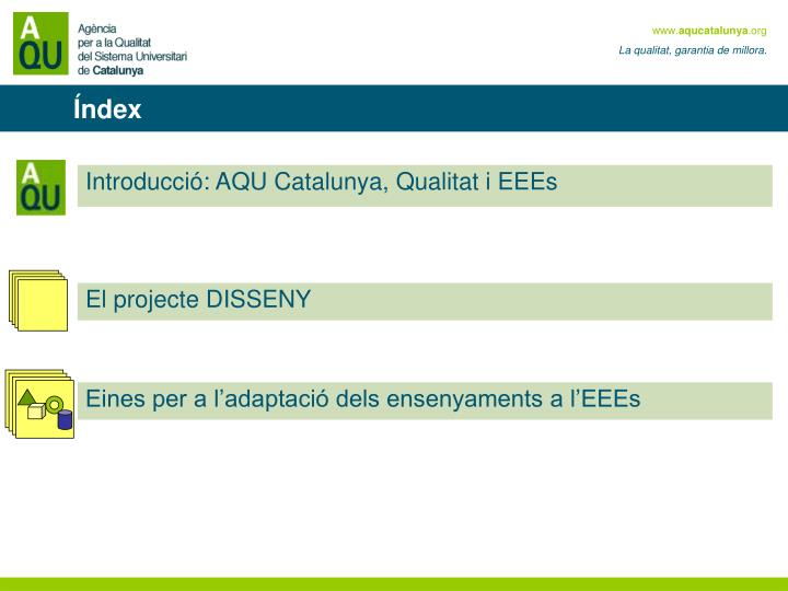 Introducció: AQU Catalunya, Qualitat i EEEs