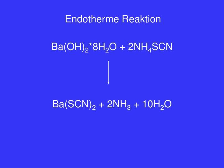 Endotherme Reaktion
