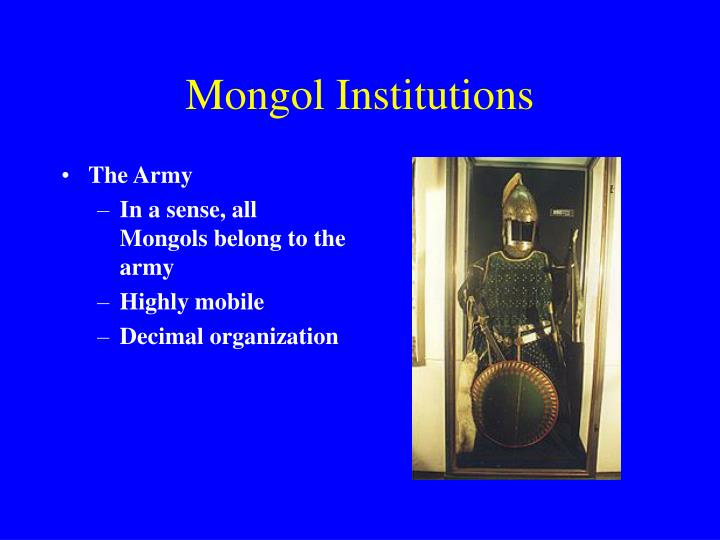 Mongol Institutions