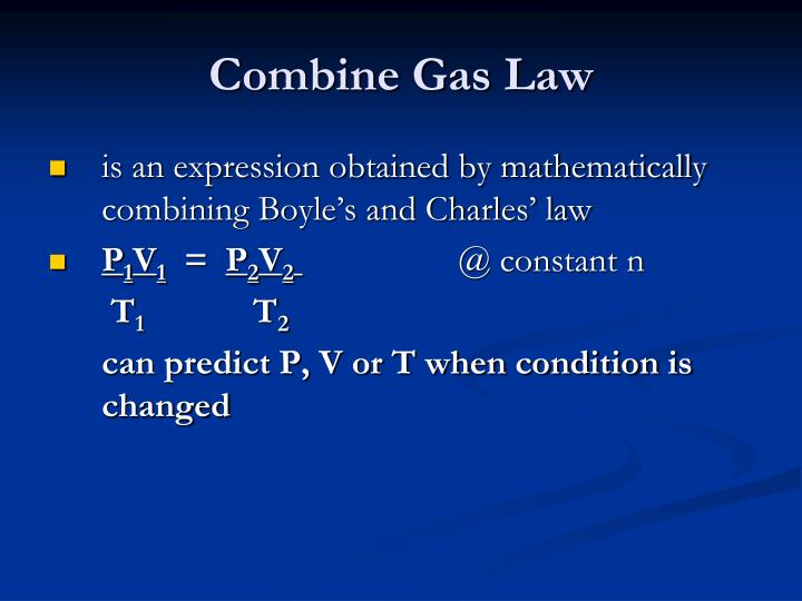 Combine Gas Law