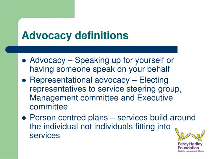 Advocacy definitions