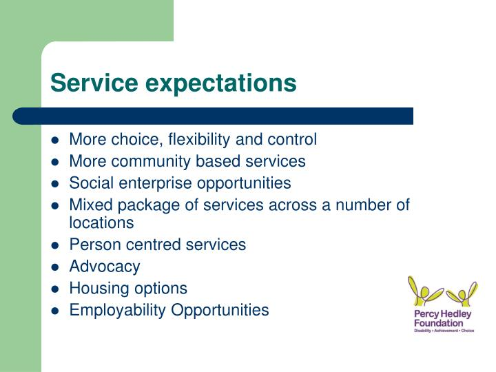 Service expectations