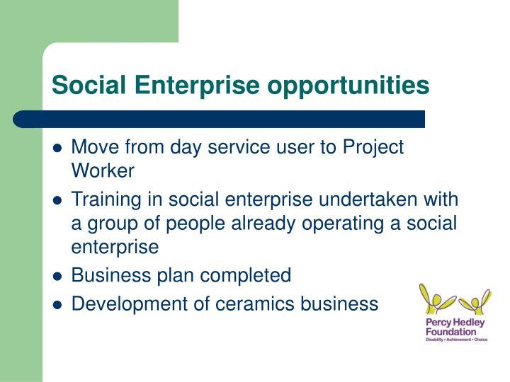 Social Enterprise opportunities