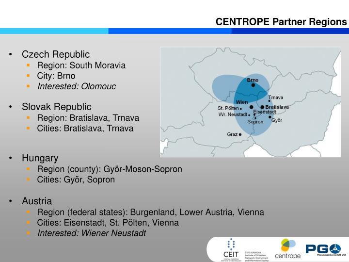 CENTROPE Partner Regions