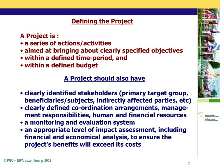 Defining the Project