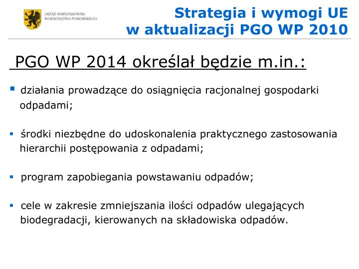 Strategia i wymogi UE
