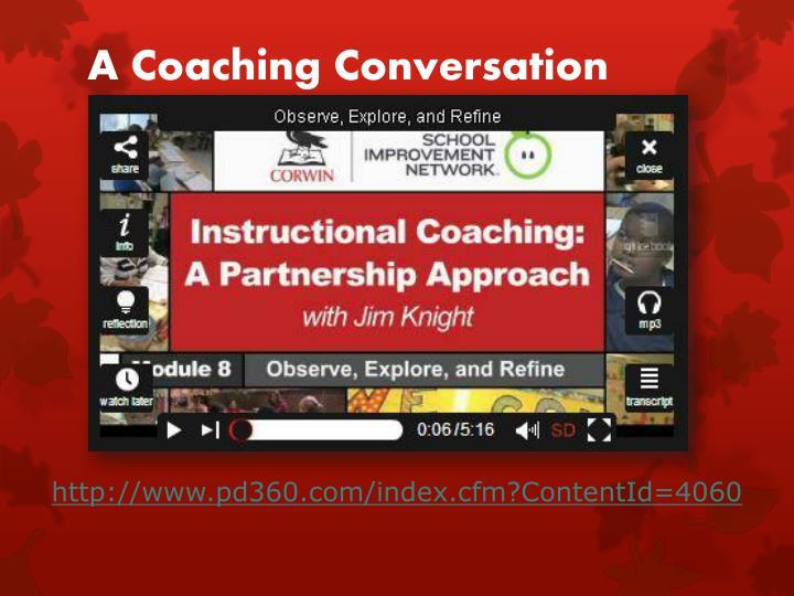 A Coaching Conversation