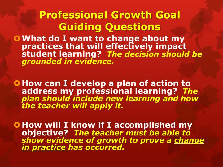 Professional Growth Goal