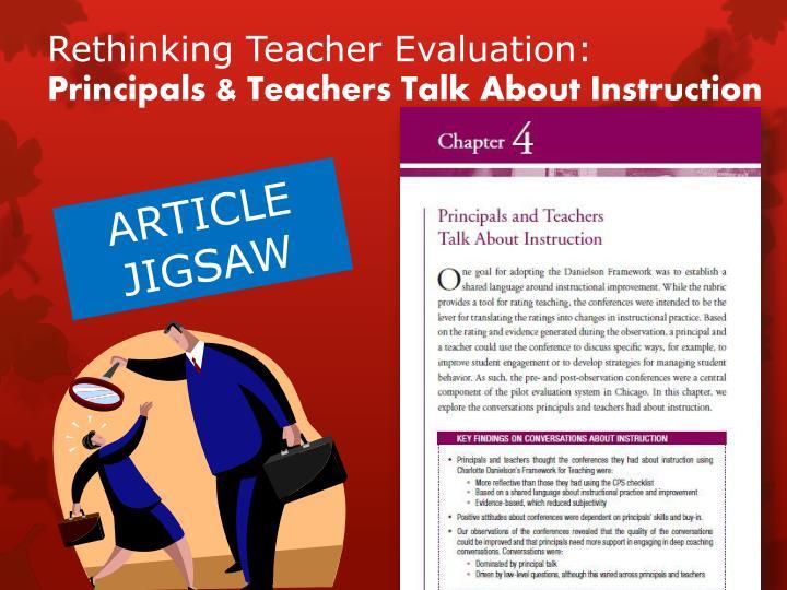 Rethinking Teacher Evaluation: