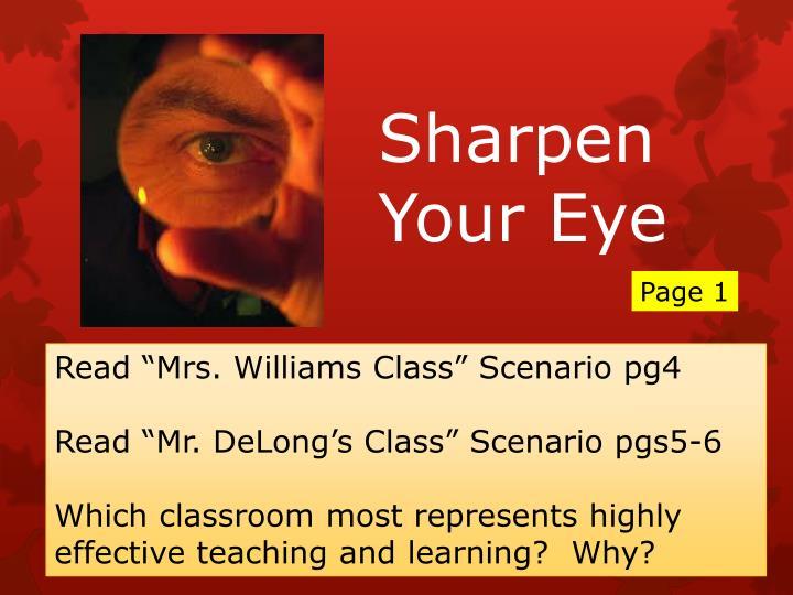 Sharpen Your Eye