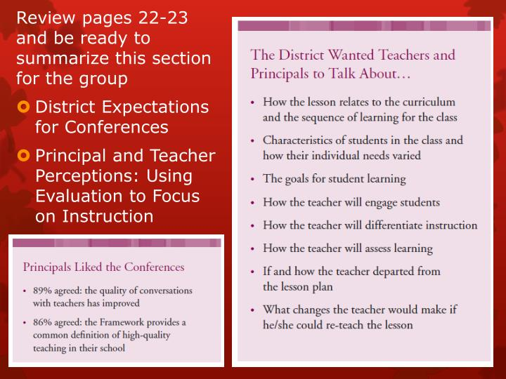 Review pages 22-23 and be ready to summarize this section for the group