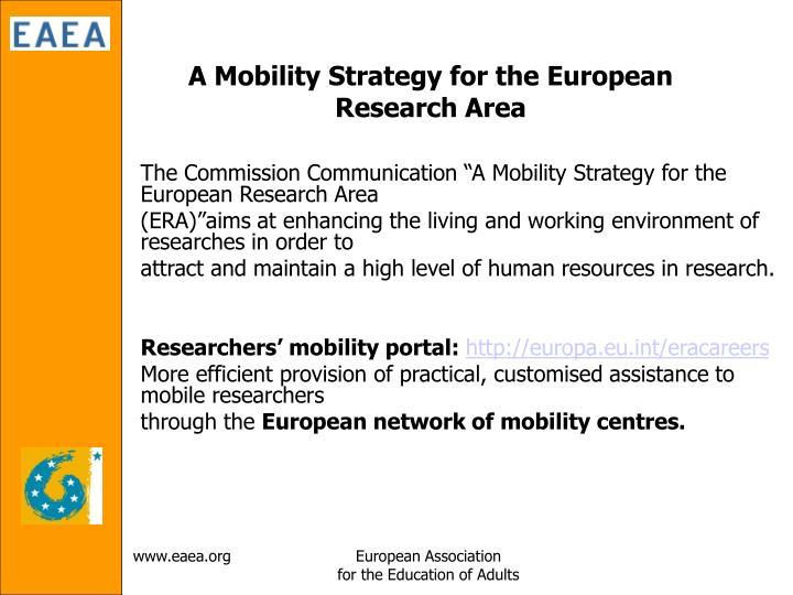 A Mobility Strategy for the European Research Area