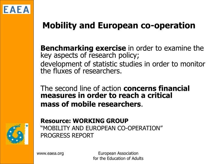 Mobility and European co-operation