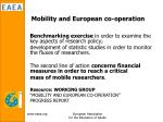 mobility and european co operation