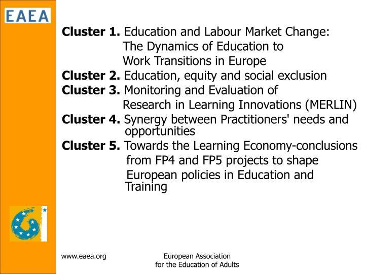 Cluster 1.