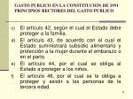 gasto publico en la constitucion de 1991 principios rectores del gasto publico1