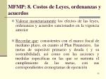 mfmp 8 costos de leyes ordenanzas y acuerdos