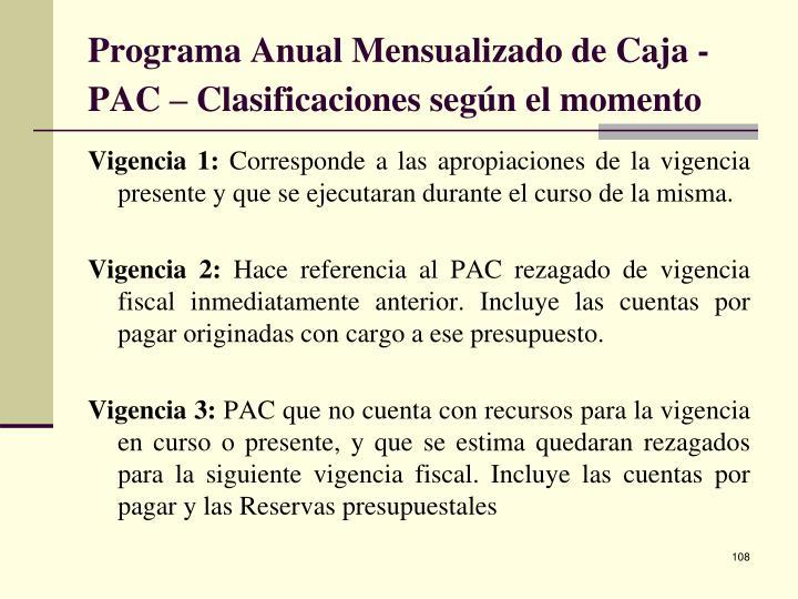 Programa Anual Mensualizado de Caja - PAC –