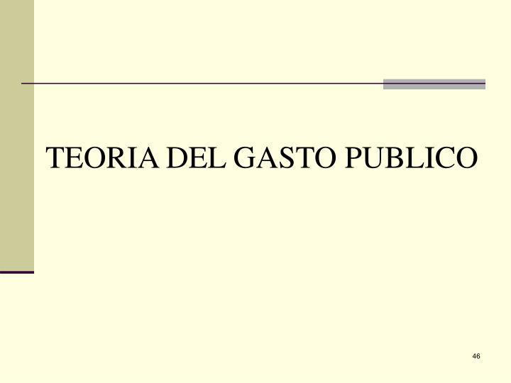 TEORIA DEL GASTO PUBLICO