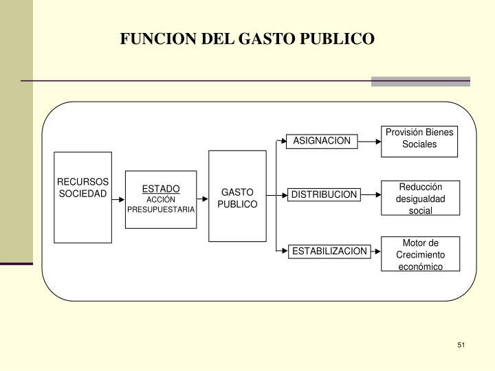 FUNCION DEL GASTO PUBLICO