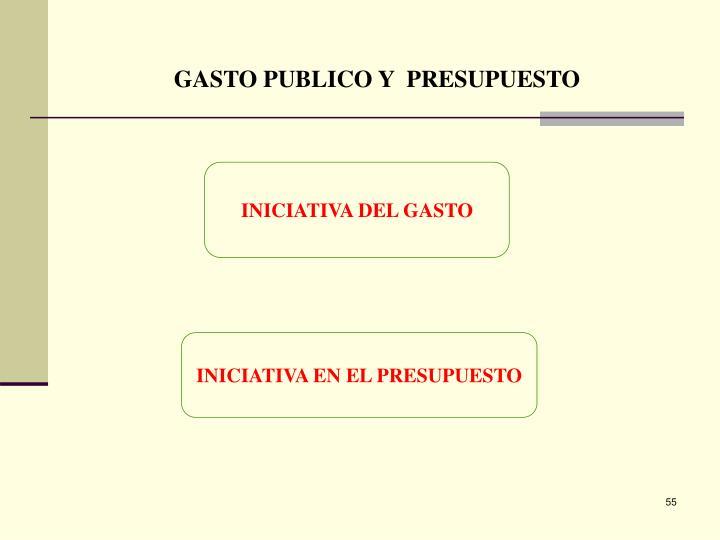 GASTO PUBLICO Y  PRESUPUESTO