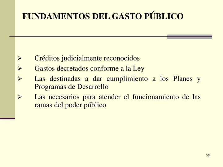 FUNDAMENTOS DEL GASTO PÚBLICO