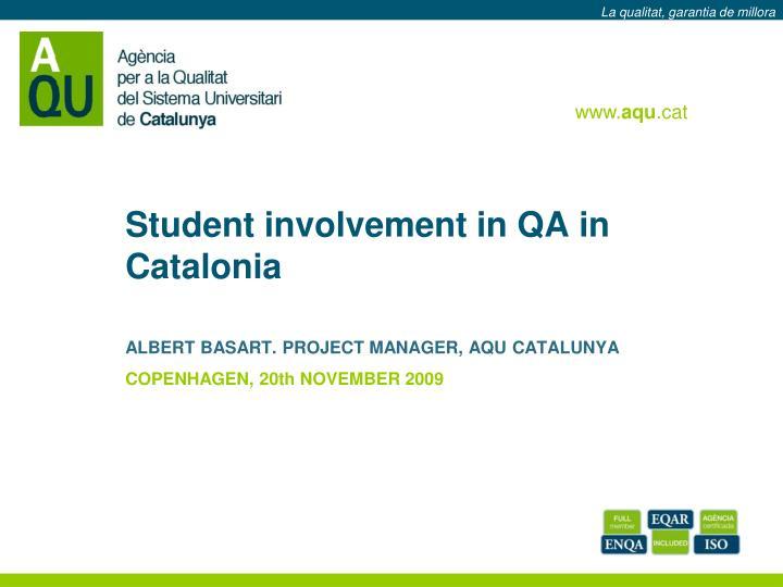 student involvement in qa in catalonia