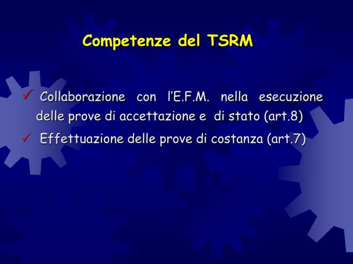 Competenze del TSRM