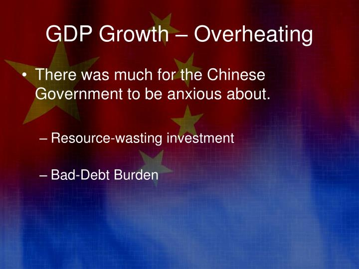 GDP Growth – Overheating
