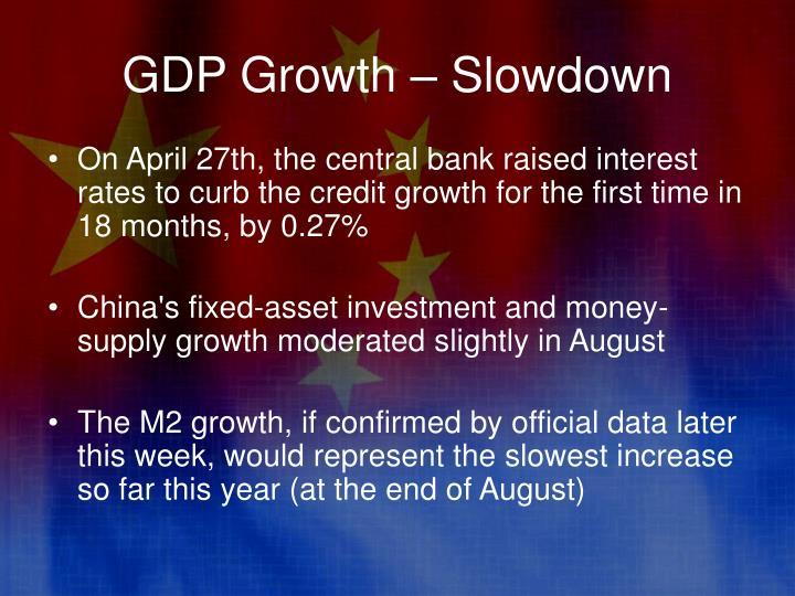GDP Growth – Slowdown