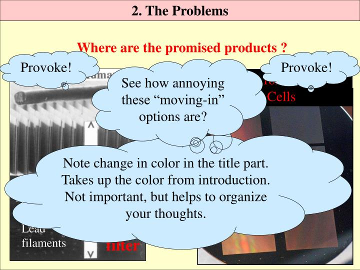 2. The Problems