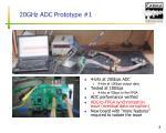 20ghz adc prototype 1