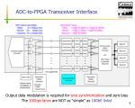 adc to fpga transceiver interface