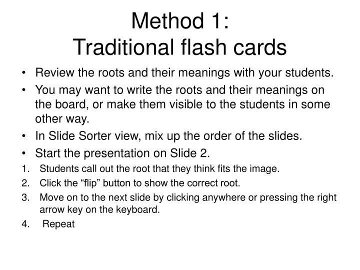 Method 1: