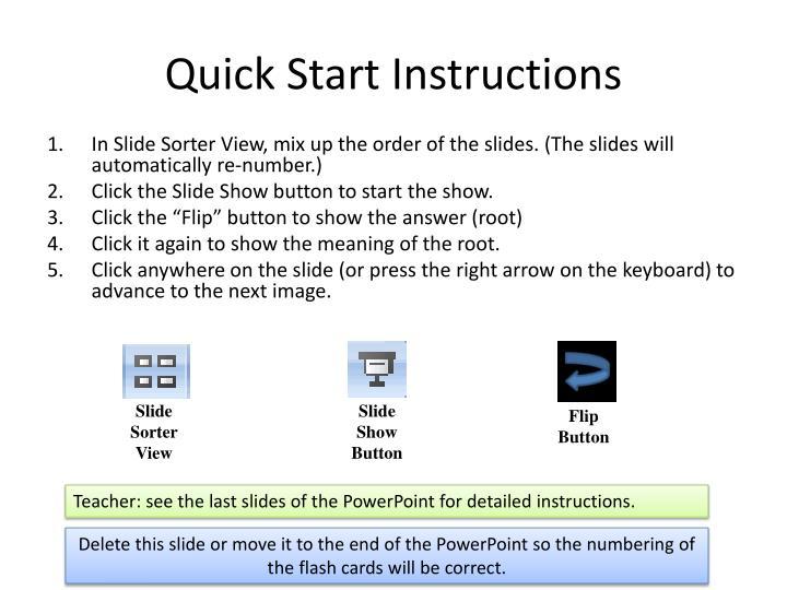Quick Start Instructions