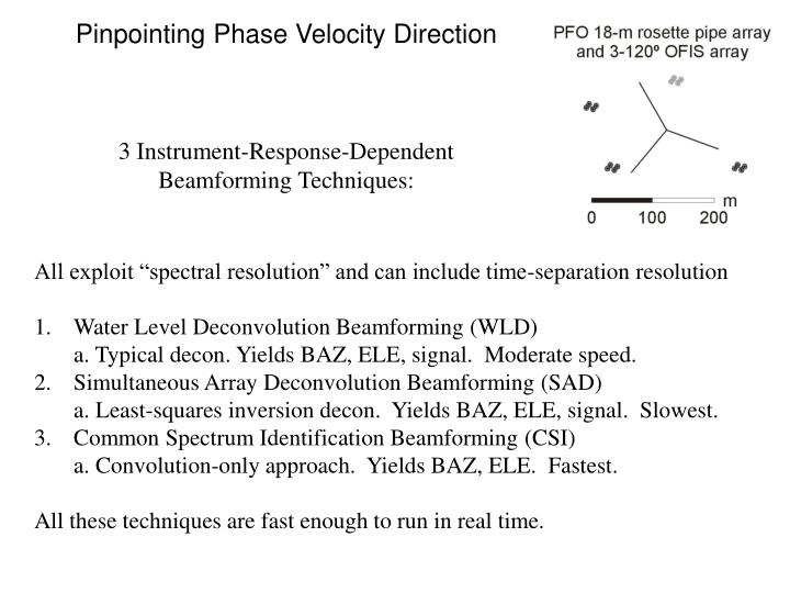 Pinpointing Phase Velocity Direction