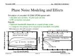 phase noise modeling and effects
