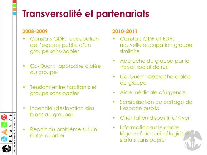 Transversalité et partenariats
