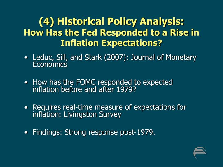 (4) Historical Policy Analysis: