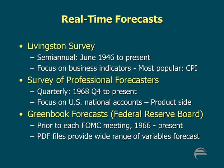 Real-Time Forecasts