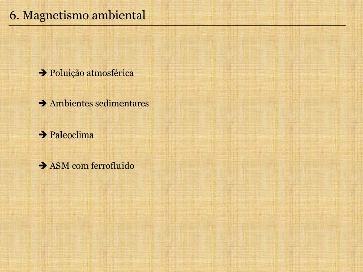6. Magnetismo ambiental