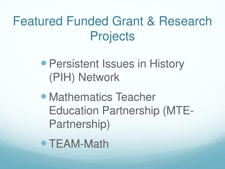 Featured Funded Grant & Research Projects