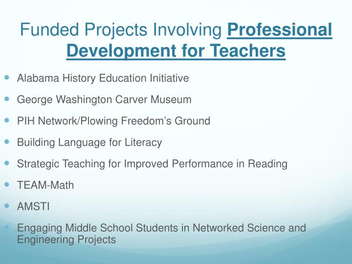 Funded Projects Involving